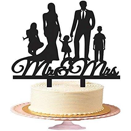 topo de bolo para casamento filhos