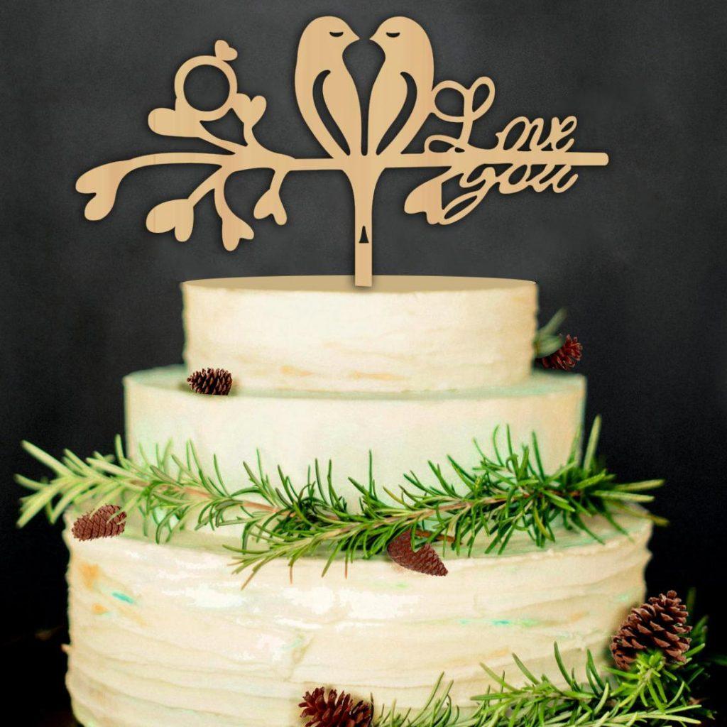 topo de bolo para casamento mdf