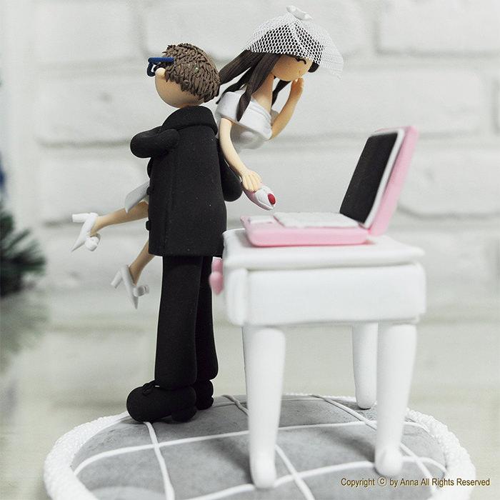 topo de bolo para casamento criativo
