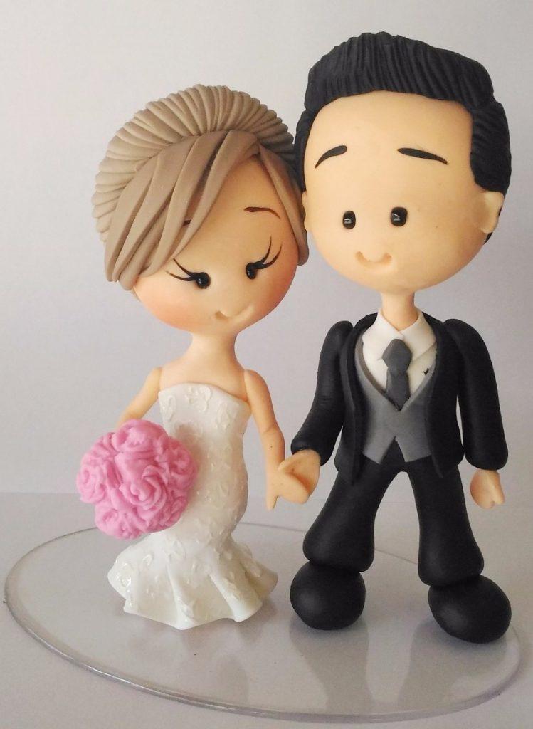topo de bolo para casamento noivinhos