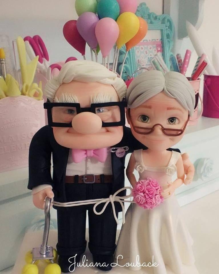 topo de bolo para casamento up altas aventuras