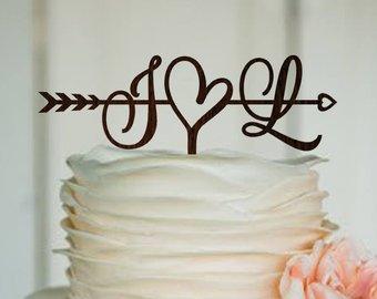 topo de bolo para casamento barato