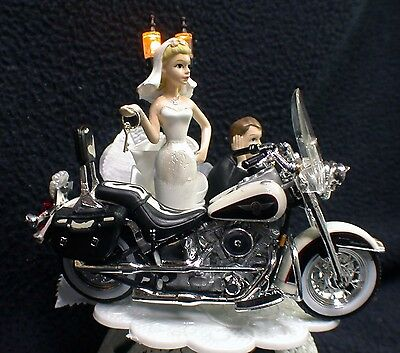 topo de bolo para casamento moto