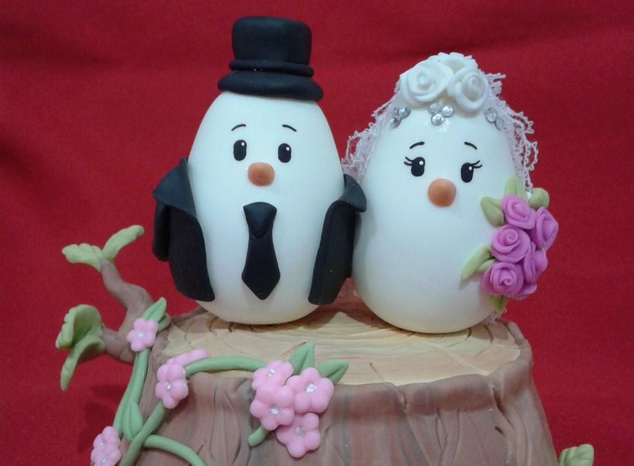 topo de bolo para casamento pombinhos
