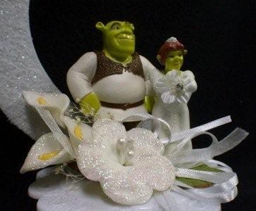 topo de bolo para casamento shrek e fiona