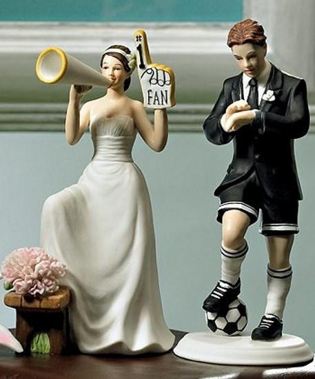 topo de bolo para casamento futebol