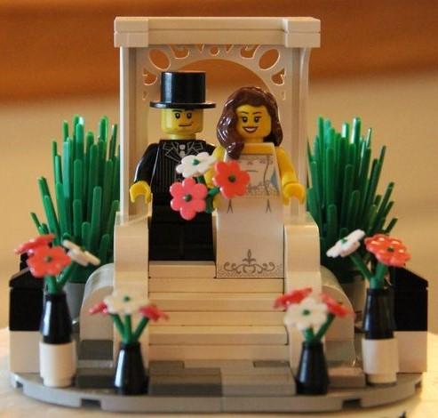 topo de bolo para casamento lego