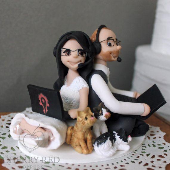 topo de bolo para casamento gamer