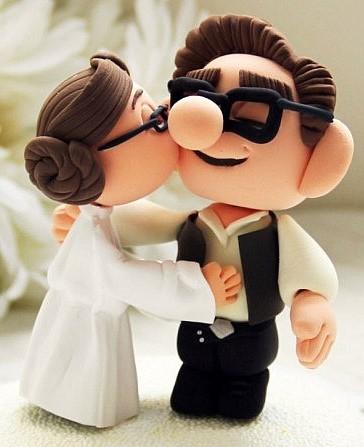 topo de bolo para casamento geek