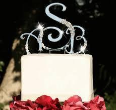topo de bolo para casamento iniciais
