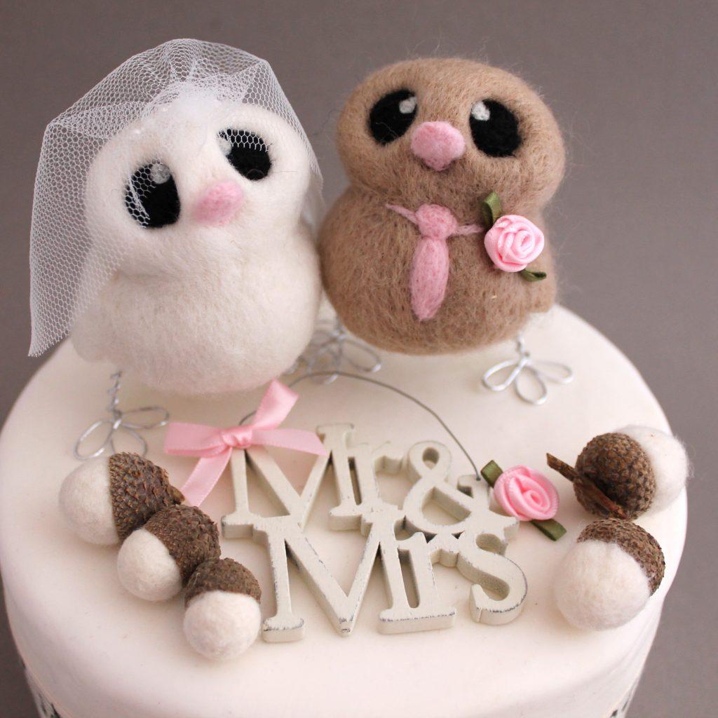 topo de bolo para casamento passarinho