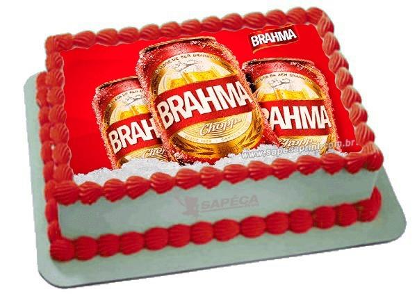 bolo da brahma quadrado