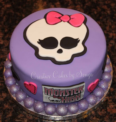bolo da monster high pasta americana