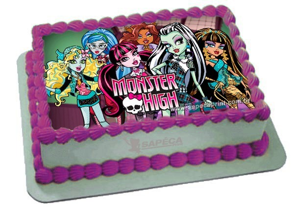 bolo da monster high quadrado