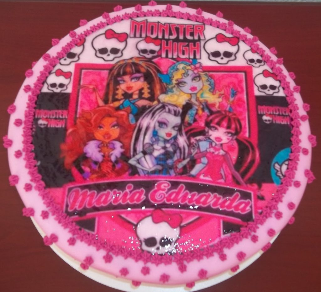 bolo da monster high papel arroz