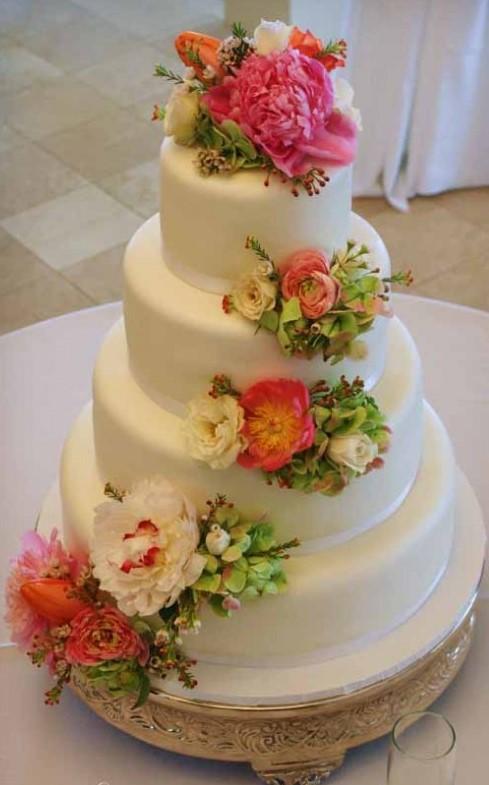 bolo de rosas naturais
