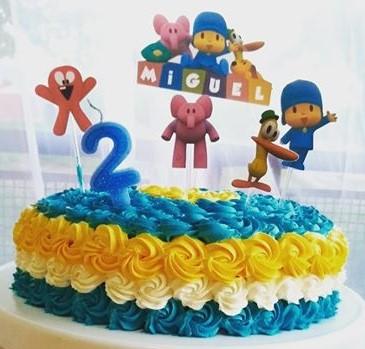 bolo pocoyo simples