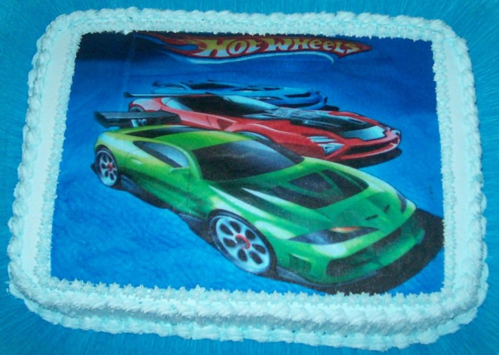 bolo hot wheels papel arroz