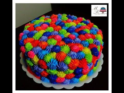 bolo colorido infantil