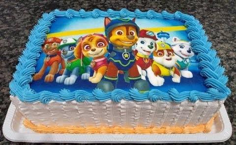 bolo infantil patrulha canina