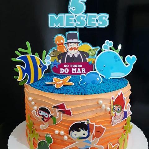bolo mundo bita fundo do mar