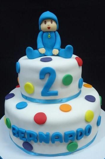 bolo pocoyo 2 andares