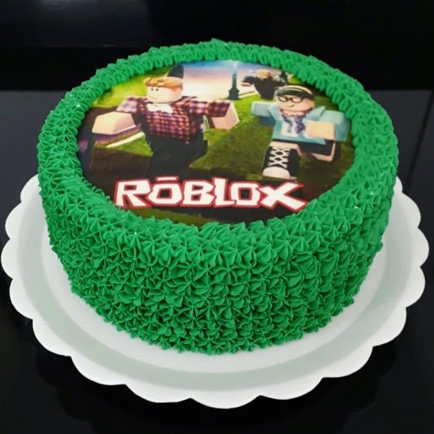 bolo roblox papel arroz