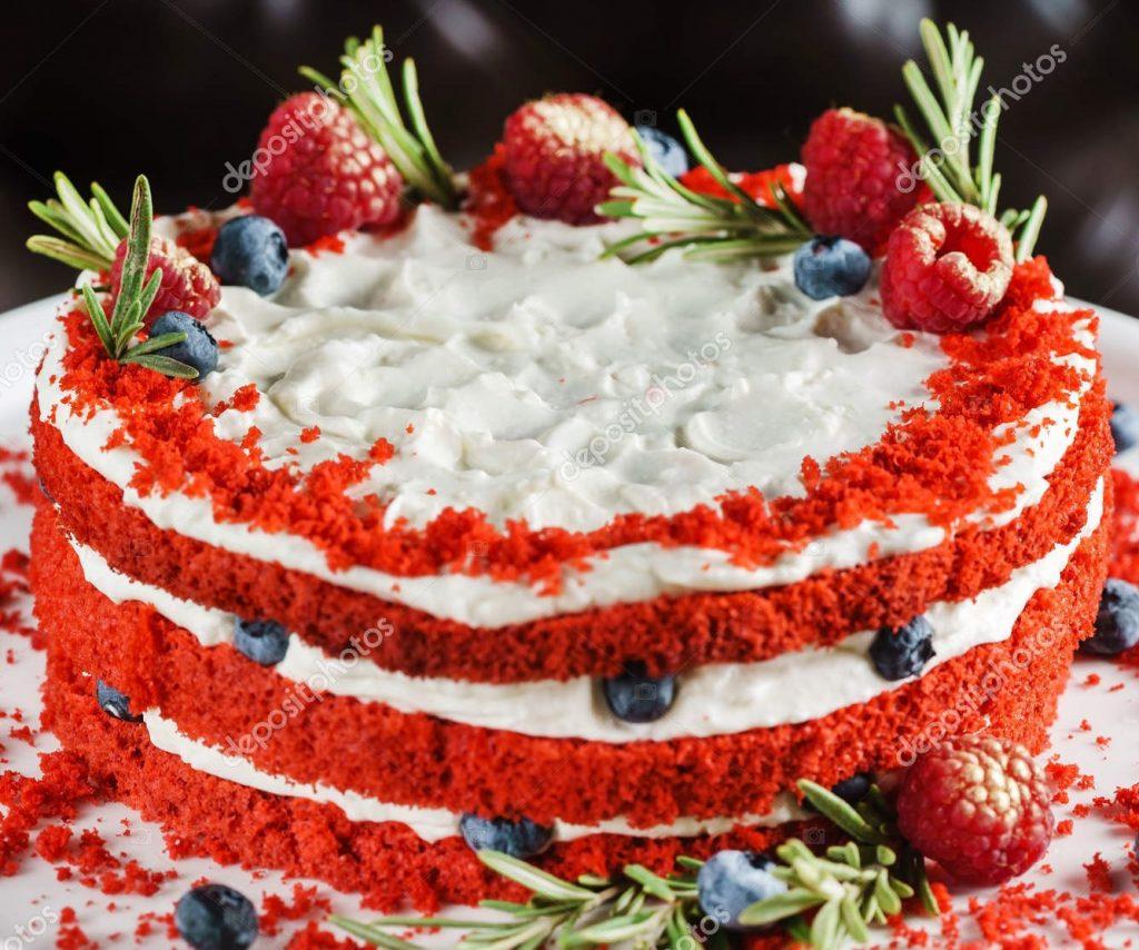 bolo vermelho veludo