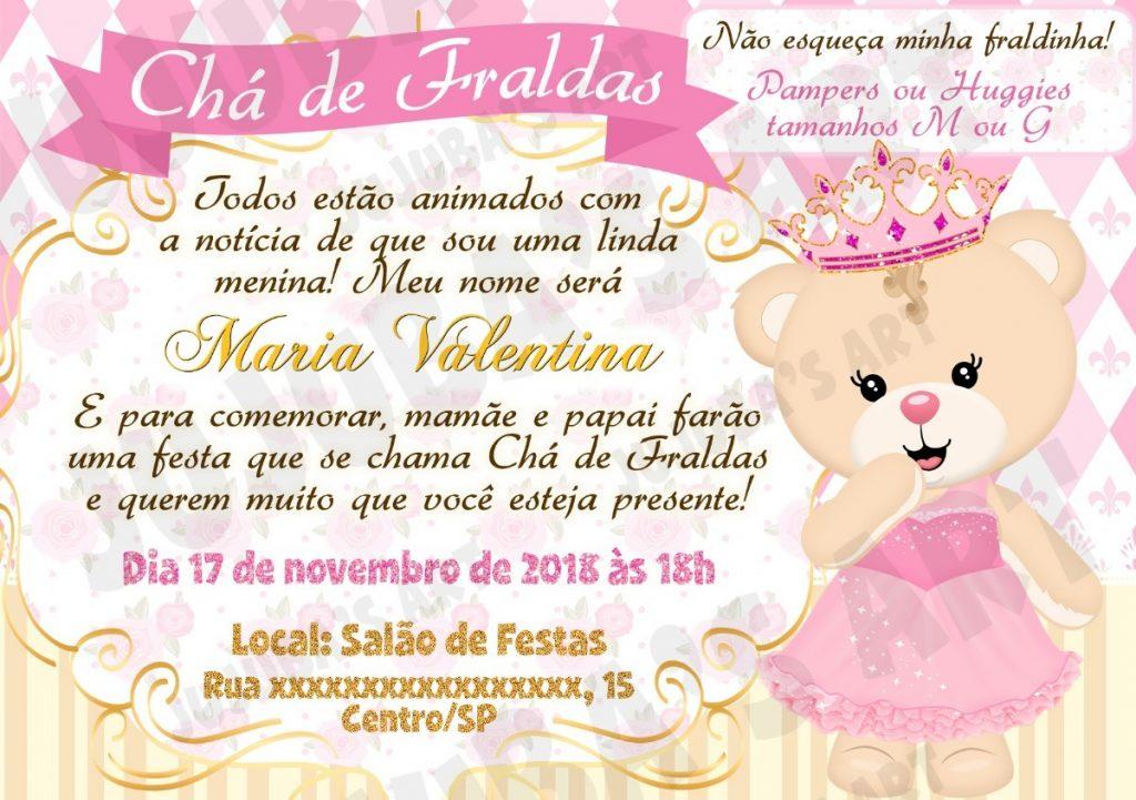 Mensagem De Convite De Cha De Fralda: Convite Chá De Fralda: 60 Modelos Fofos Para Inspirar Nos