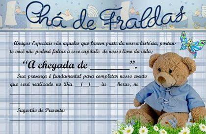 Convite Cha De Fralda 60 Modelos Fofos Para Inspirar Nos Convites