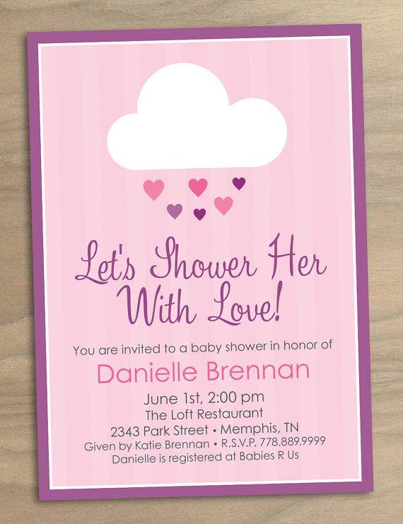 convite chuva de amor rosa