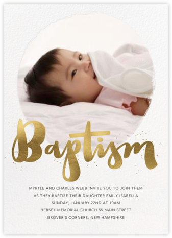 convite de batismo virtual