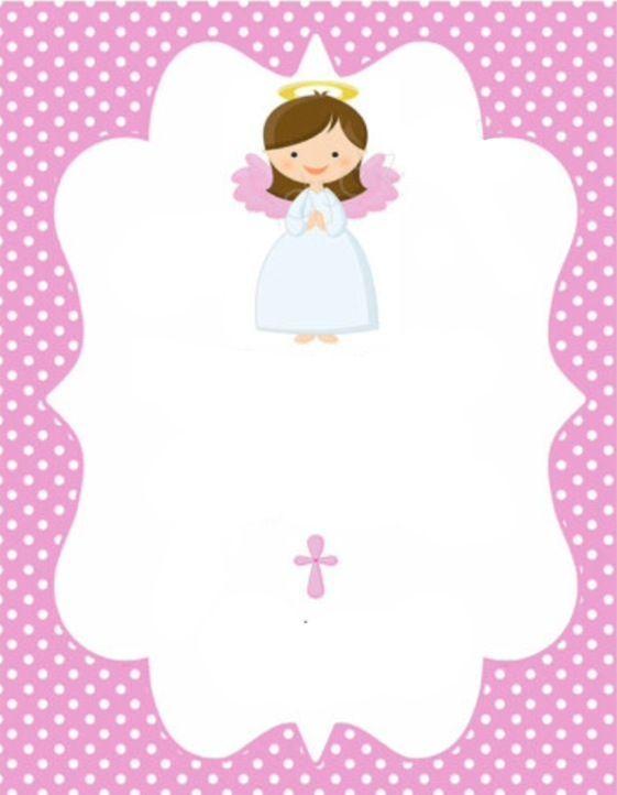 convite de batismo para imprimir