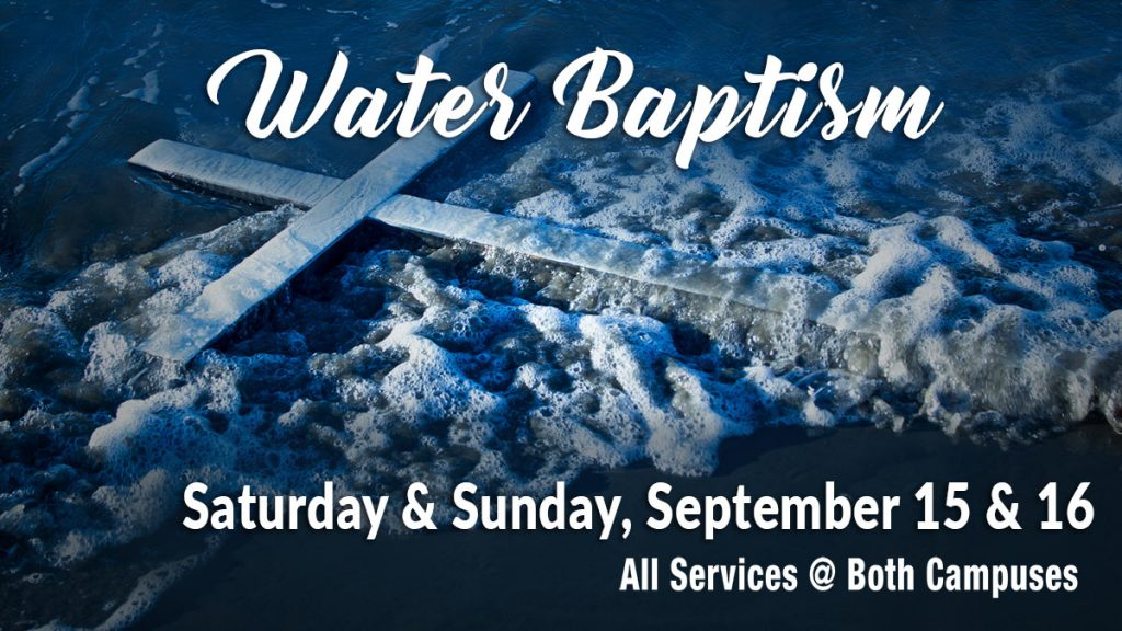 convite de batismo nas águas