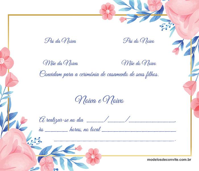 convite de casamento para editar