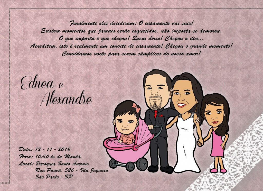 convite de casamento on line
