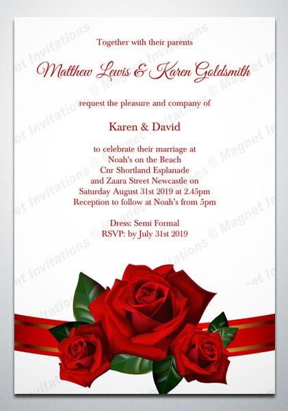 convite de casamento rose