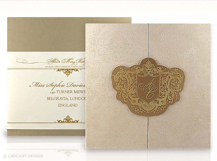 convite de casamento luxo