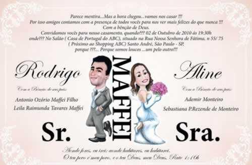 convite de casamento engraçado