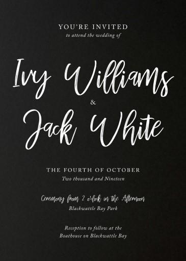 convite de casamento preto