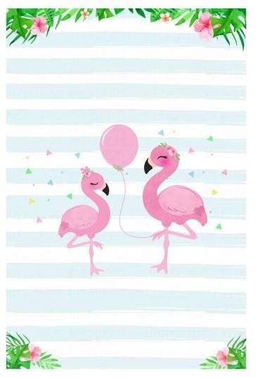convite flamingo gratis