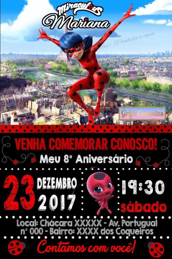 Convite ladybug digital