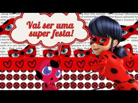 Convite ladybug animado
