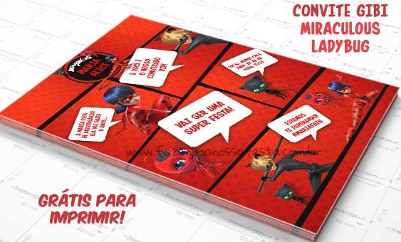 convite ladybug gratis