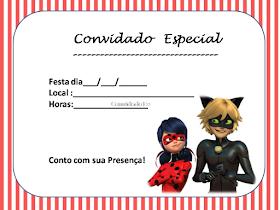 convite ladybug para editar