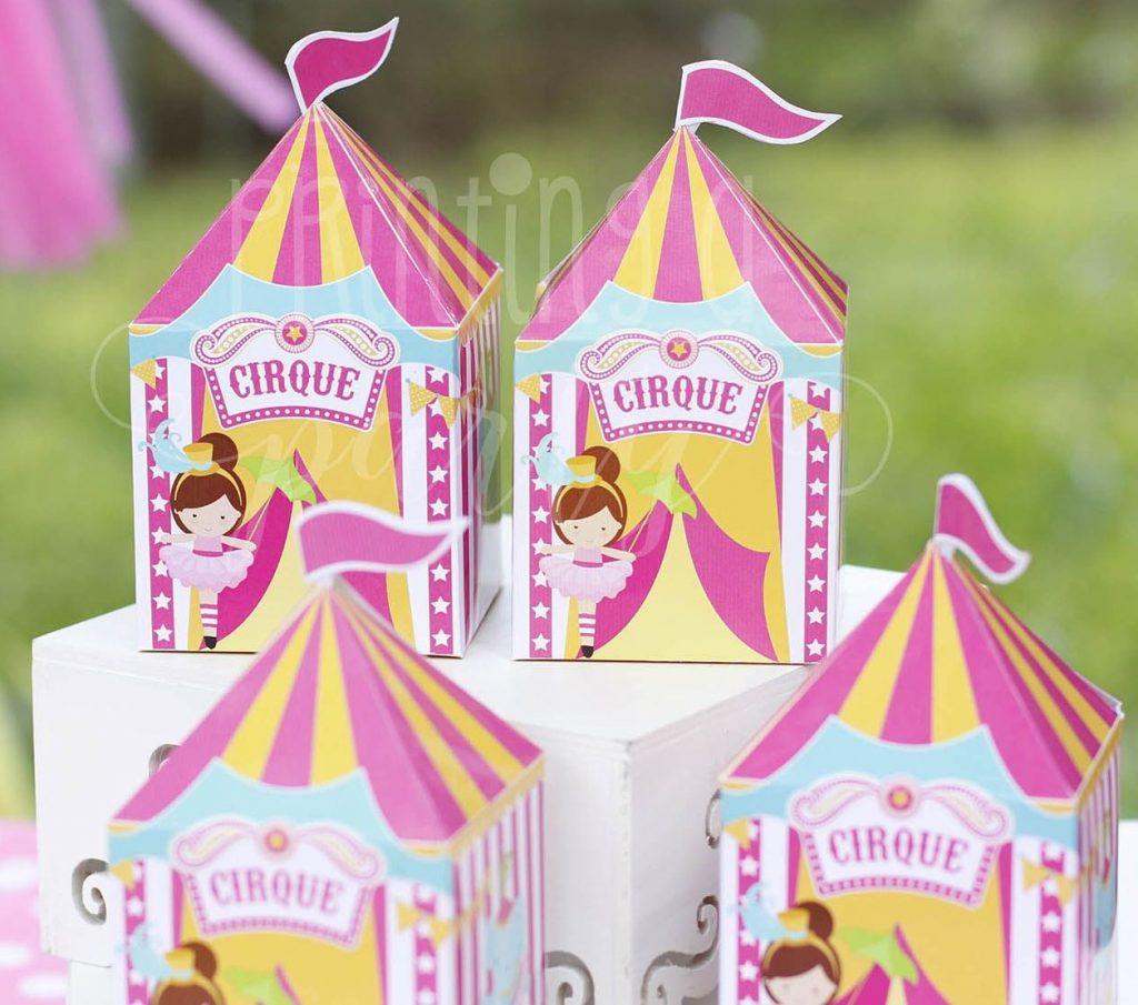 lembrancinha circo rosa