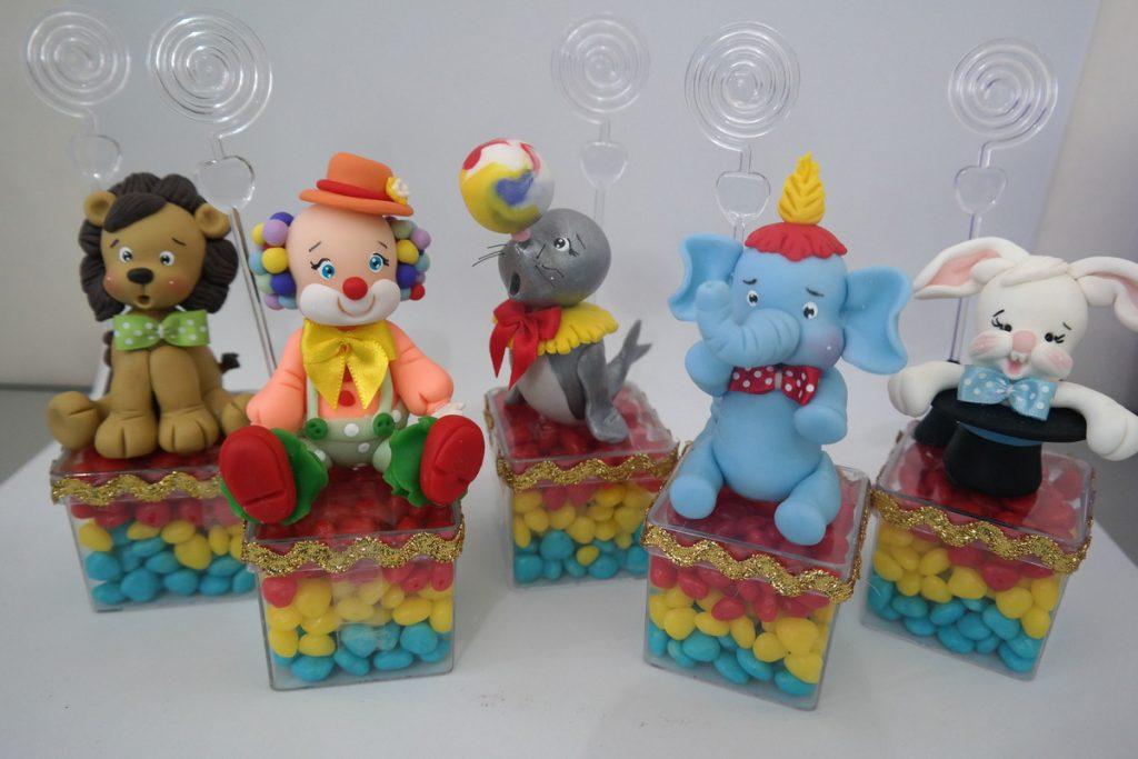 lembrancinha circo biscuit