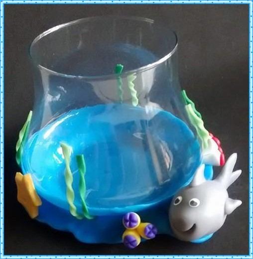 lembrancinha fundo do mar aquário