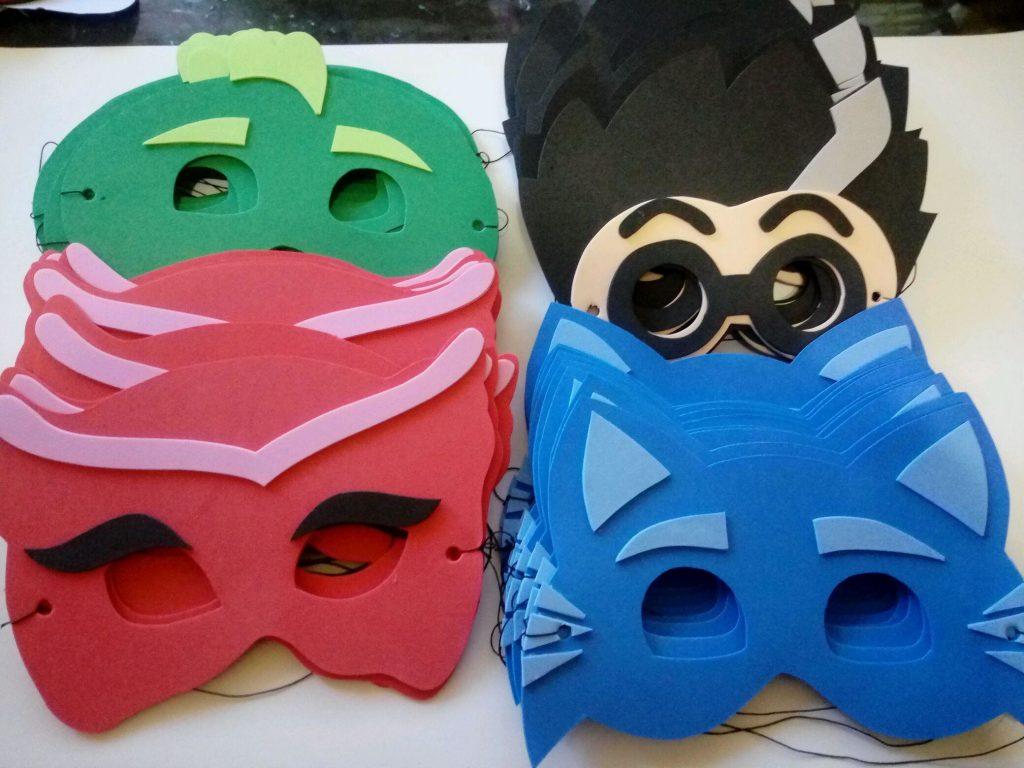 lembrancinha pj masks eva