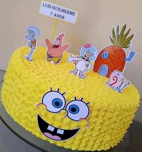 bolo amarelo simples